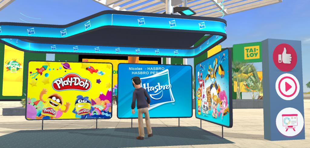 Plataforma 3D para hacer una feria virtual para emprendedores